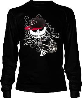 Atlanta Falcons Football Halloween T Shirt, The Nightmare Before Christmas T Shirt - Long Sleeve Tees