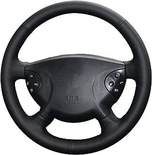XUJI Hand Sewing Genuine Leather Car Steering Wheel Cover for 2013 2014 2015 Mercedes-Benz B180 Benz W210 E240 E63 E320 E280 2002-2005
