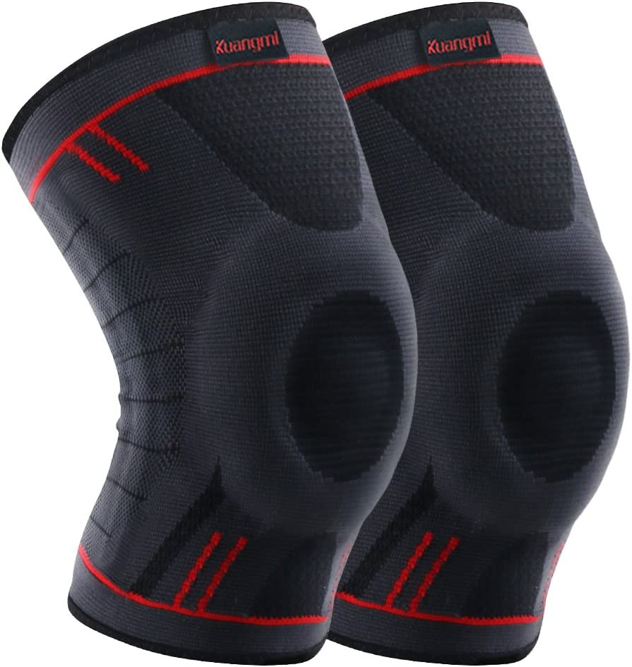 Kuangmi Knee Brace Max 79% OFF Compression Sleeve Running for Support Gorgeous Joggin