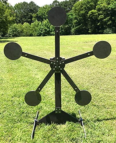 "Steel Shooting Targets Magnum Target AR500 Portable Texas Star ""No Weld"" Metal Reactive 8in Paddles"