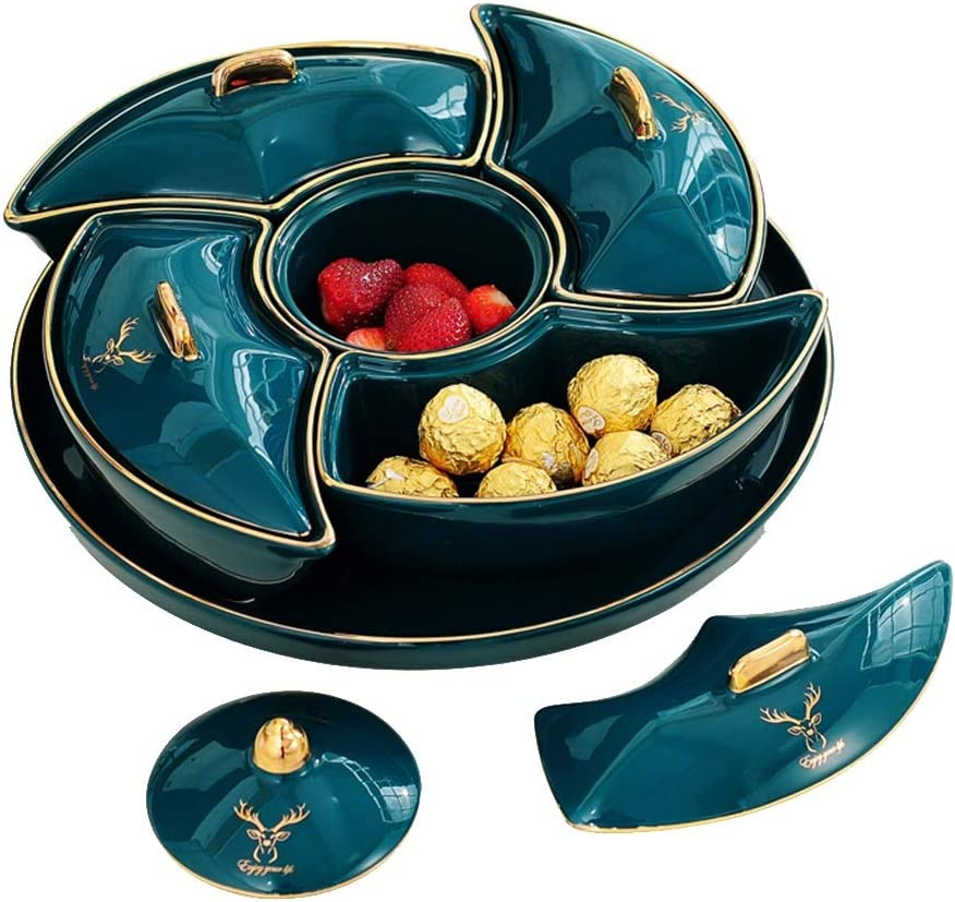 Nut Serving Dry Fruit Tray With Divided Lid Bargain Trays 40% OFF Cheap Sale