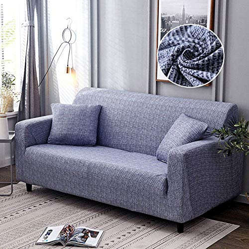Nordic Leaf Pattern Sofa Cover Cotton Elastic Stretch Couch CoverUniversal Sofa Covers for Living Room A11 4 seater