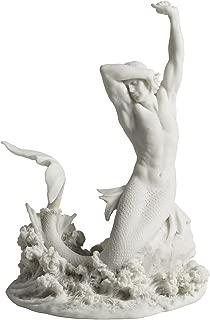 Merman Stretching on Rock Statue Sculpture Figurine
