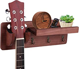 Guitar Wall Hanger Wall Mount Guitar Holder with Storage...
