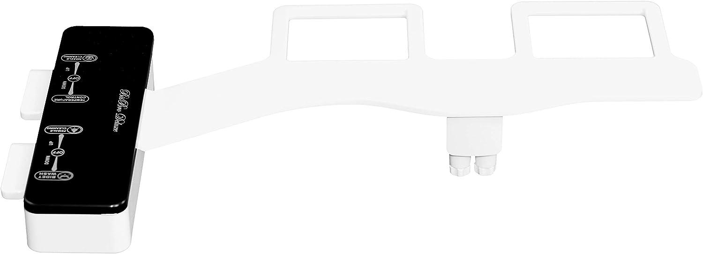 BisBro Deluxe Slim Bidet 2082   Dusch-WC zur optimalen Intimpflege   Mit Warmwasser   Einfach unter dem Klodeckel installieren   funktioniert ohne Strom   ideale Hygiene durch Wasser B07GNMZ1SS