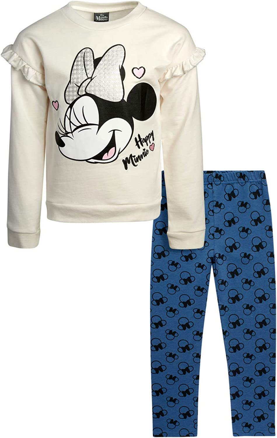 Disney Baby Girl Minnie Mouse Fleece Pullover Sweatshirt Legging Set (Infant/Toddler): Clothing, Shoes & Jewelry