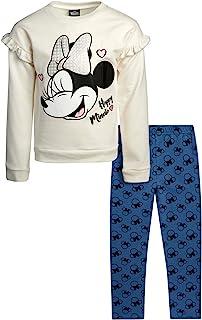 Girls' Minnie Mouse 2 Piece Fleece Cotton Legging Pant...