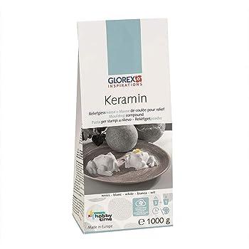 GLOREX 6 9501 20 Keramin-S Modelliermasse wei/ß 25 x 17 x 13 cm
