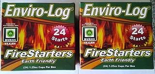 NEW Enviro-Log Environment Friendly Firestarters 2 PACK (48 firestarters) for Fireplace Wood Stove Fire Pit