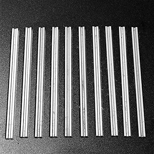 Wnuanjun 10 stücke 82mm Hobelklingen Messer für D-E-W-A-L-T für M-E-T-A-B-O für M-A-K-I-T-A-B-A-Holzwerkzeuge-Zubehör 3-1/4