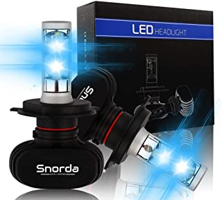 Snorda H4 LED Headlight Bulb, 8000 Lumens ultra-bright 9003 headlight bulb Conversion Kit with CSP Chips to replace High Beam, Low Beam and Fog Bulb (white 6500K)-2 packs