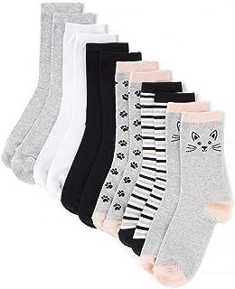 Pack 6 pares de Calcetines Estampados/Lisos Unisex