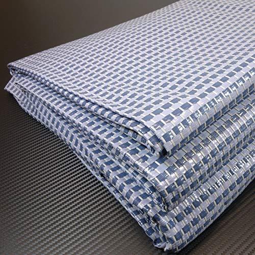 Zeltteppich ´´´odooro DURATEX 2,5m x 6m blau-grau *** 500 g/m² Outdoor Teppich Vorzelt Teppich Garten Spieldecke