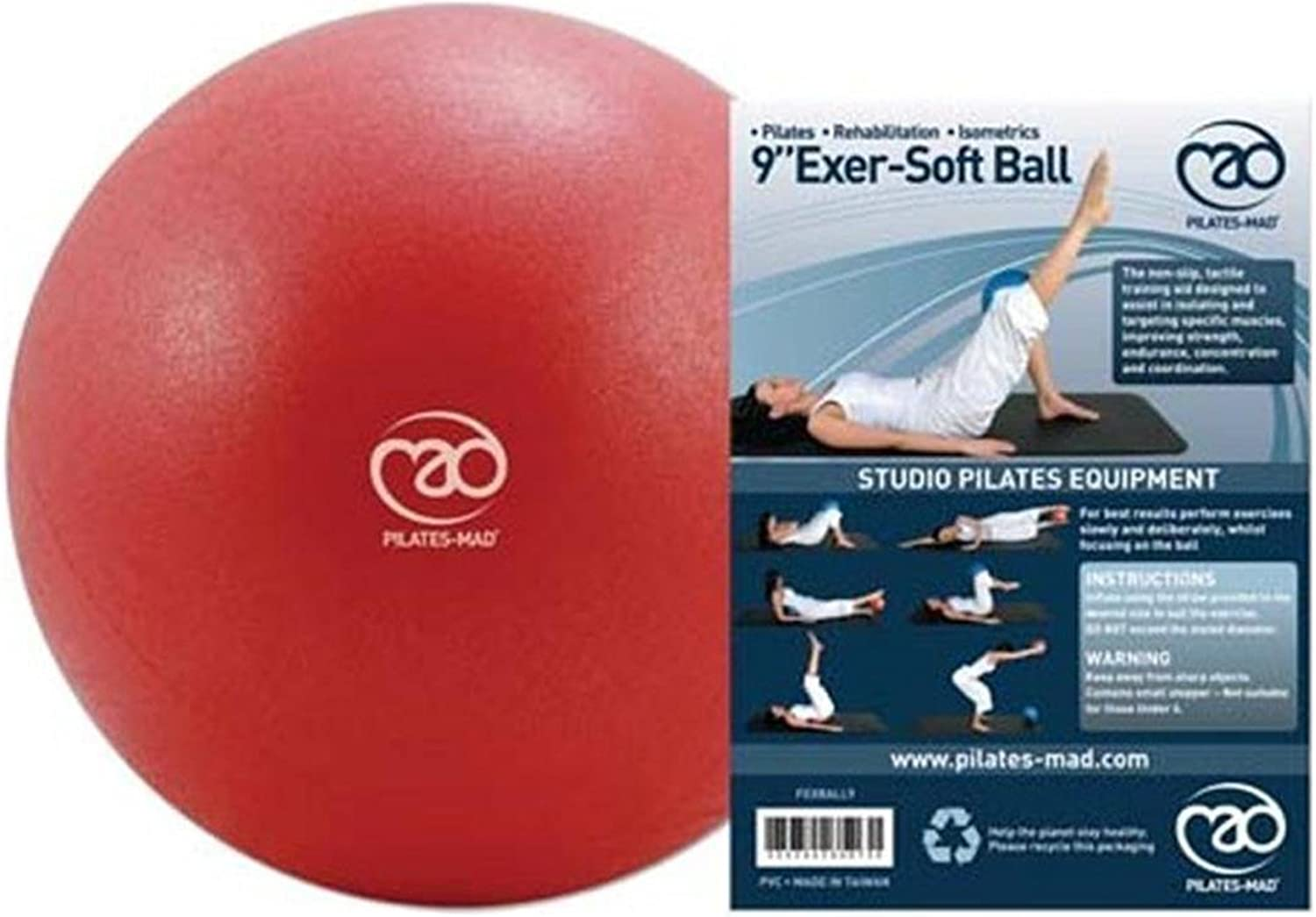 FitnessMad Exercise Yoga Core Strength Pelvic & Pilates Workout ExerSoft Ball
