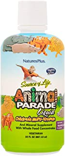 NaturesPlus Animal Parade Source of Life Children's Liquid Multivitamin - Tropical Berry Flavor - 30 fl oz - Whole Food Su...