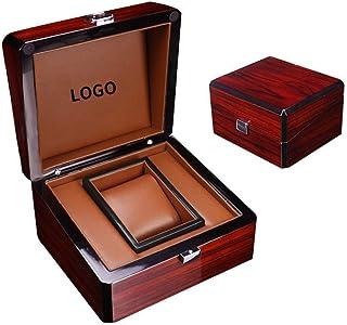 DKE&HXL Caja De Reloj, Caja De Almacenamiento De Empaquetado De Joyería Caja De Reloj De PU De Caja De Madera Personalizad...
