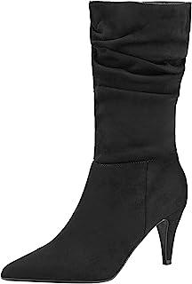 DREAM PAIRS Women's Cecile Platform High Heel Ankle Booties