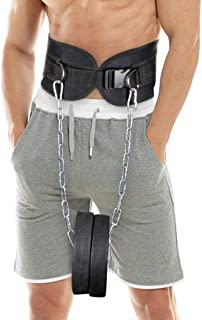HemeraPhit Dip Belt with Chain Body Building Weight Lifting Weight Belt