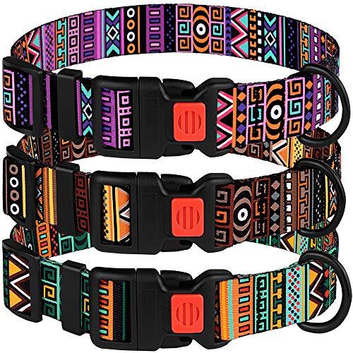 CollarDirect Tribal Dog Collar Aztec Pattern Adjustable Nylon Pet Collars for Small Medium Large Dogs Puppy (Pattern 2, Neck Fit 12-16)
