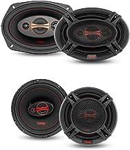 """$79 » DS18 GEN-X Coaxial Speakers GEN-X6.5 + GEN-X6.9 - Pair of 6.5"""" and Pair of 6x9 Coaxial Car Replacement Speakers with Black..."""