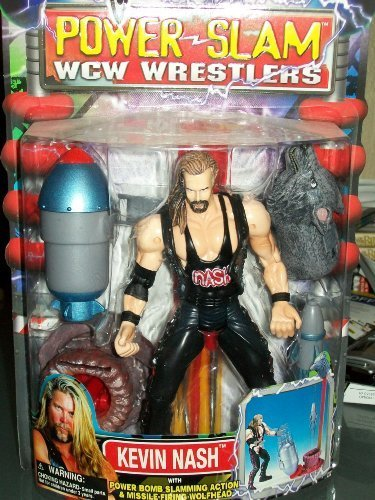 WCW POWER SLAM WRESTLERS- KEVIN NASH- MOST RARE WCW FIGURE EVER MADE by Wrestling