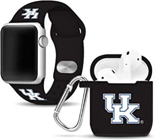 Affinity Bands Kentucky Wildcats Silicone Watch Band and Case Cover Combo Compatible with Apple Watch and AirPod Case