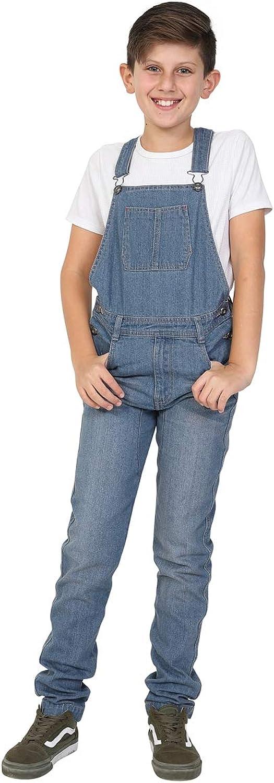 Wash Clothing Company Boys Slim Fit Lightwash Denim Bib-Overalls Age 4-14 Years Kids Dungarees