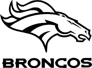 SUPERBOWL SALE - Denver Broncos Team Logo Car Decal Sticker 8X8inch BLACK or WHITE