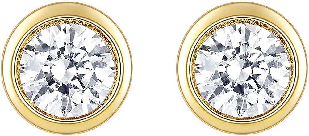 Cross Rainbow Sterling Silver 10k 14k 18k Moissani New Free Luxury goods Shipping Gold 1CTW 5mm