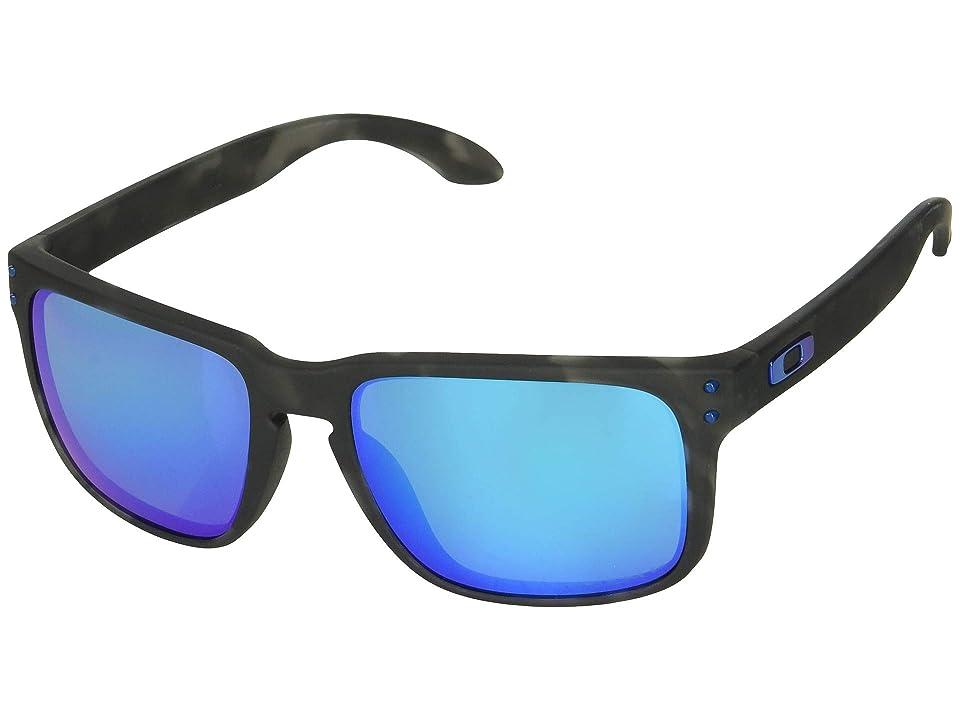 Oakley Holbrook (Matte Black Tortoise/Prizm Sapphire Polarized) Sport Sunglasses