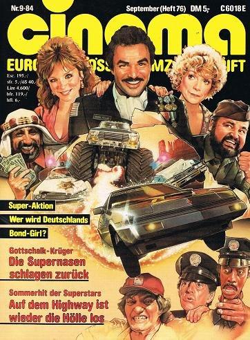 Cinema 1984 Nr. 9 (Heft 76) , Auf dem Highway ist wieder die Hölle los Cover, Zeitschrift