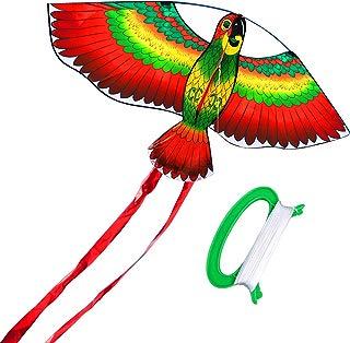 HENGDA KITE- Kites For Kids Children Lovely Cartoon Red Parrot Kites With Flying Line