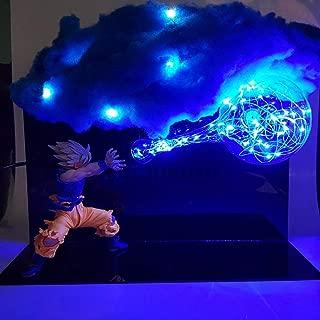 Kamehameha DIY Set Anime Dragon Ball Z Goku Dragon Ball Z Son Goku Super Saiyan DBZ Led Cloud Action Figures Toy Gift