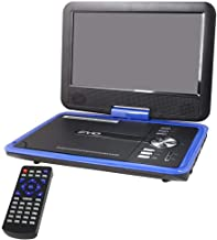 Buyee Handheld Portable DVD Player 9.5 Inch 270 Degree Swivel Screen Support Analog Tv/Vcd/cd/mp3/mp4/usb Sd Card Slot/Card Reader/Game/fm Radio with Game Controller and Remote Controller (Blue)