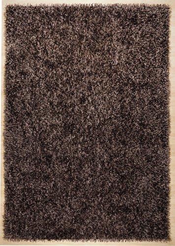 THEKO Tapis POP Shaggy Coloré: brun foncé Dimension: 160x230 cm