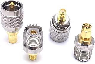 4pcs/Set UHF PL259 SO239 to SMA Male Plug Female Jack Adapter RF Connector 4 Type Test Converter