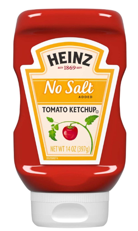 Heinz Ketchup No Salt - 14 Ounce - 2 Pack