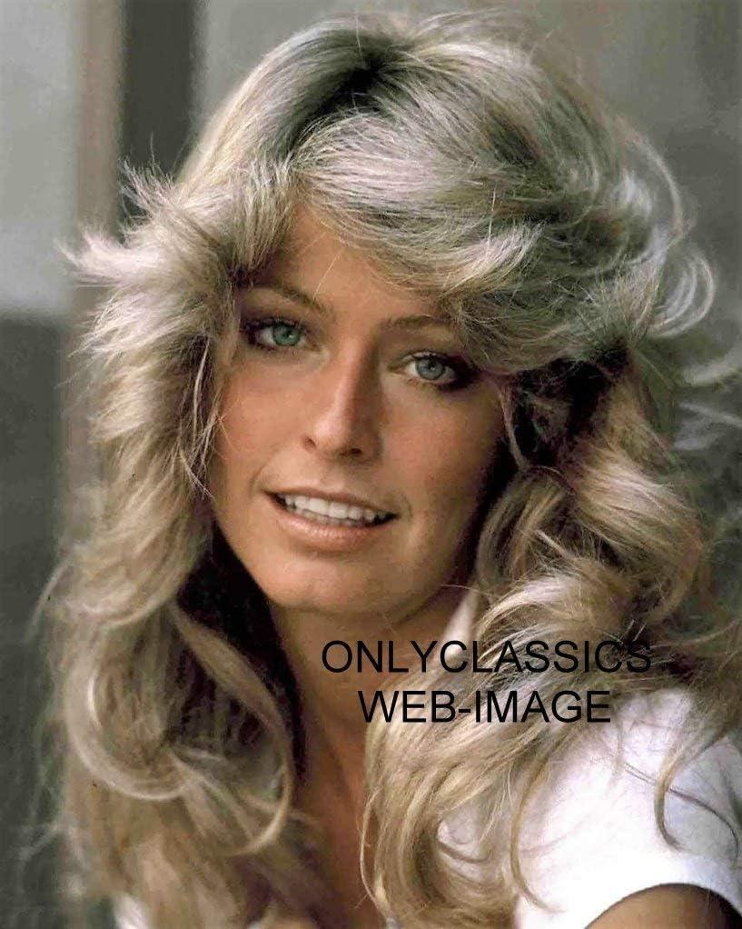 OnlyClassics 1977 Sexy Blonde Hair 8X10 Farrah Photo Pin Fawcett Max 40% depot OFF