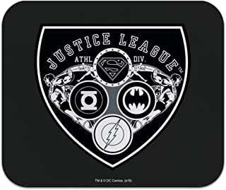 Justice League Athletic Shield Logo Low Profile Thin Mouse Pad Mousepad
