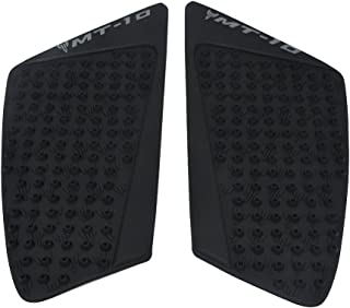 Black Gas Tank Pad Traction Side Fuel Grips Decals Protector 3M - Yamaha MT-10 FZ-10 MT10 2016-2017