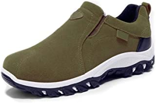 EliteMill Herren Herren Slip On Wanderschuhe Casual Atmungsaktiv Anti-Rutsch Schuhe mit Gummisohle Stilvolle Sneakers Bequ...