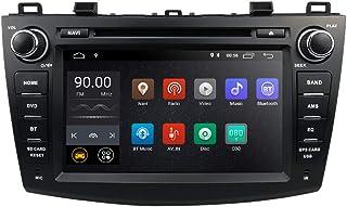 Doble DIN Car Navigation con Android 8.1 Se Adapta para 2010-2013 Mazda 3, Pantalla de 7 Pulgadas Reproductor de DVD para automóvil Soporte Mirror-Link Bluetooth WiFi 4G SWC DVR Dab +