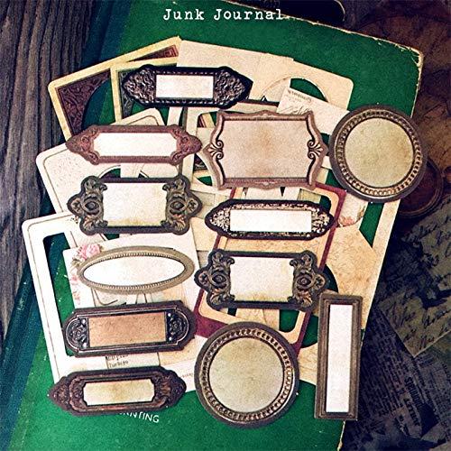 TTBH Vintage Junk Journal Cloth Paper Frame Material Diy Scrapbooking Album Diary Happy Planner Decoration Material29Pcs / Bag