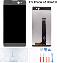 Kosuroum Screen Replacement Compatible with Sony Xperia C6/XA Ultra F3211 F3212 F3213 F3215 F3216 LCD Glass Display Touch Digitizer Assembly Tools (Black)