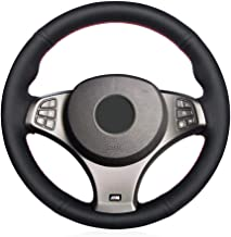 YYFTT For Black Artificial Leather Car Steering Wheel Cover For Bmw E83 X3 M Sport 2005 2010