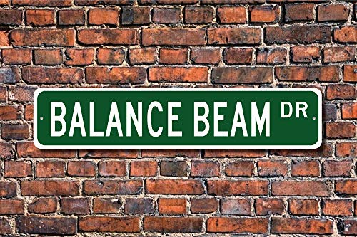 Yilooom Balance Beam, Balance Beam Gift, Balance Beam Sign, Gymnastics Lover, Gift Gymnast, Gymnast Gift, Custom Street Sign, Quality Metal Sign