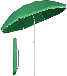 Sekey® Parasoll 160 cm marknadsparaply trädgårdsparasoll terrassparasoll runt solskydd UV20