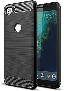 Google Pixel 2 Case, Vinve [Slim Thin] Carbon Fiber TPU Shock Absorption Anti-Scratches Flexible Soft Protective Case Cover for Google Pixel 2 - Black
