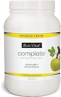 Bon Vital-13827 Complete Massage Creme, Premium Dual Use Cream for Hypoallergenic Professional Massages, Non Greasy Unscen...
