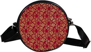 Coosun Dekorative handgezeichnete Diamanten, runde Umhängetasche, Schultertasche, Handtasche, Handtasche, Umhängetasche, S...